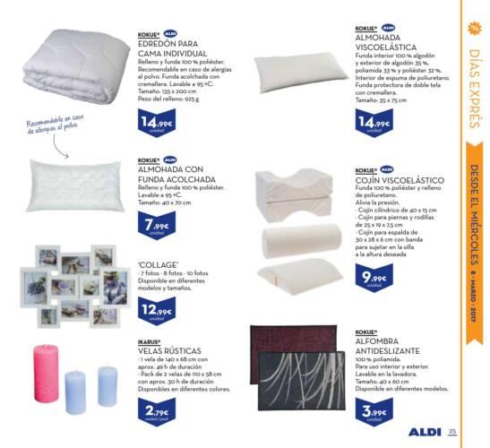 almohada cervical aldi