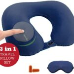 almohada de viaje inflable amazon