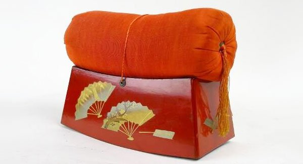 almohada japonesa madera