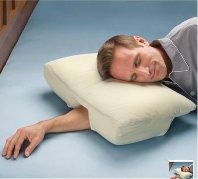 almohada para meter el brazo por debajo