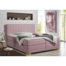cama somier rosa
