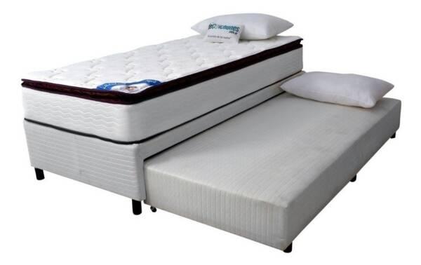 cama sommier plaza y media