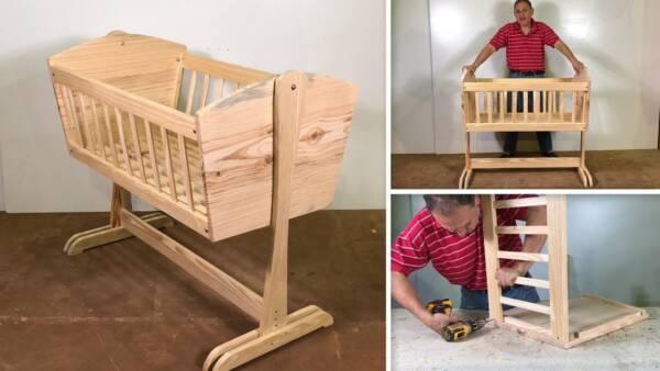 como hacer una cuna de madera