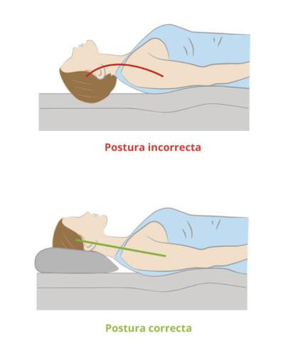 dormir con almohada alta es malo