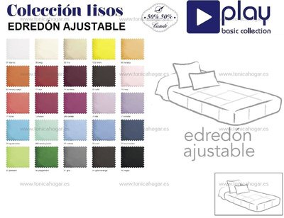 edredon ajustable color liso