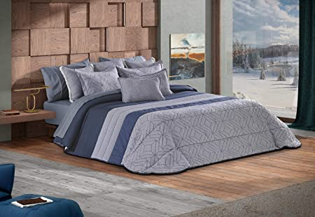 edredon azul cama 105