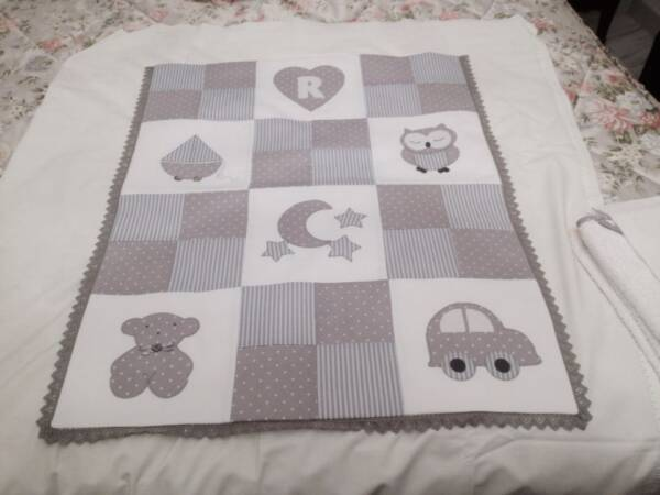 edredon bebe patchwork