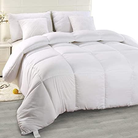 edredon blanco cama de 90