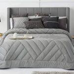 edredon cama 150 gris