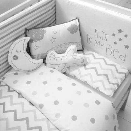 edredon cuna bebe gris