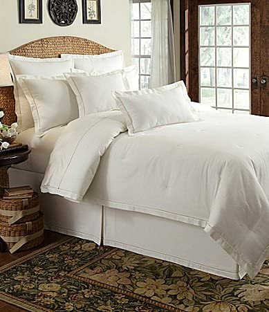 edredon lino blanco