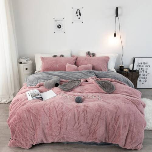 edredon nordico rosa palo