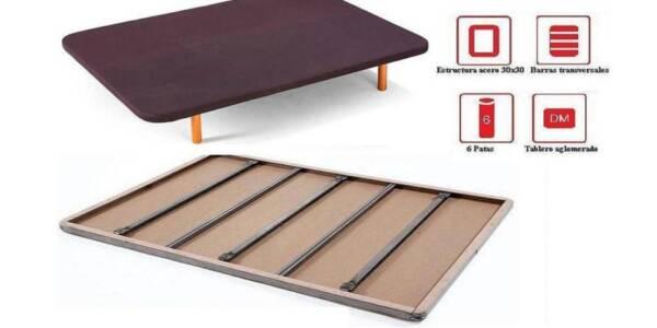 somier de laminas o base tapizada para colchon viscoelastico